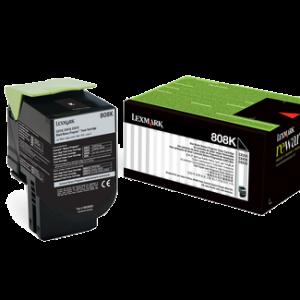 Lexmark 808 Black Cartridge   CX310/410/510   808K Low Yield Toner