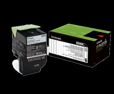 lexmark 80C80K0 Lexmark 808 Black Cartridge | CX310/410/510 | 808K Low Yield Toner