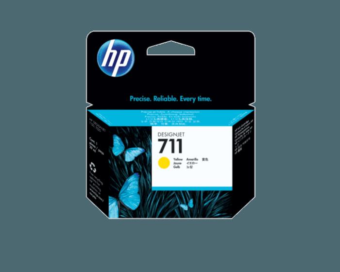 HP 711 YELLOW CARTRIDGE | CZ132A | 711 29-ML yellow ink