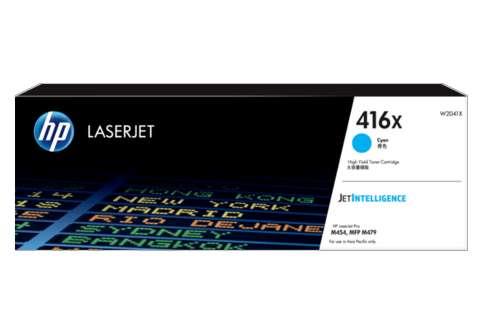 HP 416X Cyan Toner | 416X High Yield Cyan LaserJet Toner Cartridge