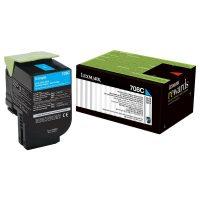 Lexmark 708 Cyan Cartridge   708C Low Yield Toner Cartridge