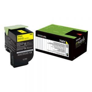 Lexmark 708HYE Cartridge | 708HYE Yellow High Yield Toner Cartridge