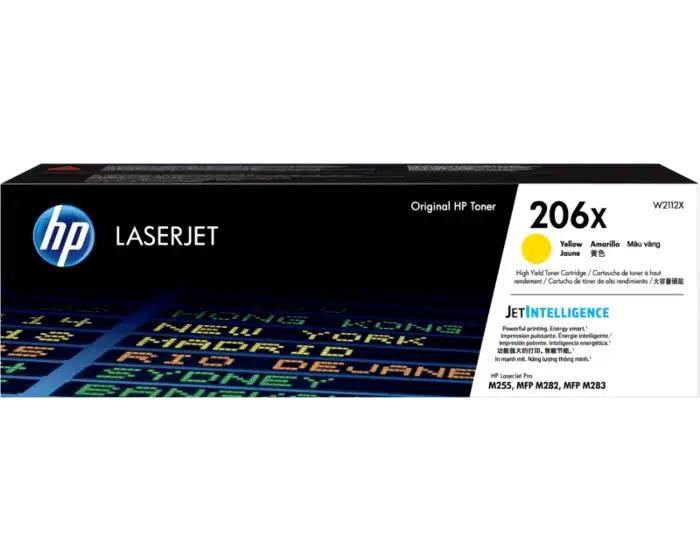 HP 206X High Yield Yellow LaserJet Toner Cartridge