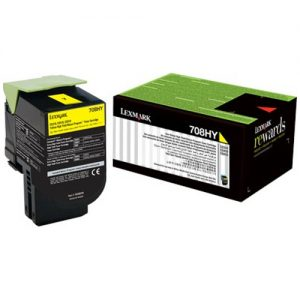 Lexmark 708 Yellow Cartridge | 708Y Low Yield Toner Cartridge