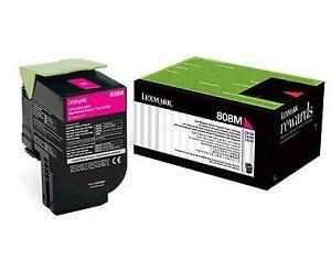 Lexmark 808 Magenta Cartridge   CX310/410/510   808M Low Yield Toner