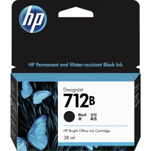 3ED28A HP 712B 38-ml Black DesignJet Ink Cartridge