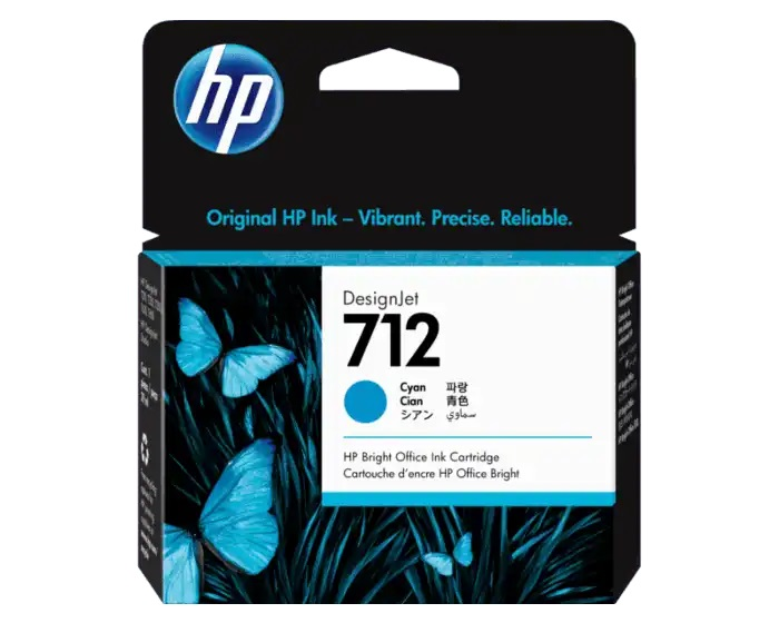 3ED67A 3ED68A HP 712 29-ml Cyan DesignJet Ink Cartridge