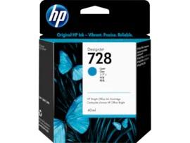 HP 728 Cyan Cartridge   F9J63A   728 40-ml DesignJet Cyan Ink