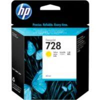 HP 728 Yellow Cartridge | F9J61A | 728 40-ml DesignJet Yellow Ink
