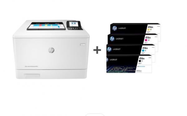 HP Colour LaserJet M455dn (3PZ95A) + Low Yield Toner cartridge | Bundle Offer